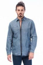 Jean Gömlek - Mason Original Shirt Ls Zip 12138280