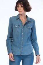 Kadın Jean Gömlek 58930-0007