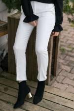 Kadın Beyaz Kumaş Pantolon 8YXK5-30472-01