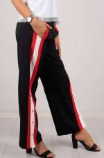 Kadın Siyah Çıtçıt Detaylı Kumaş Pantolon 4923